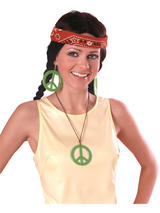 Peace Pendant & Earings