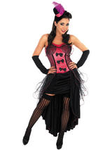 Ladies Burlesque Dancer Costume - Pink