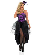 Ladies Burlesque Outfit - Purple