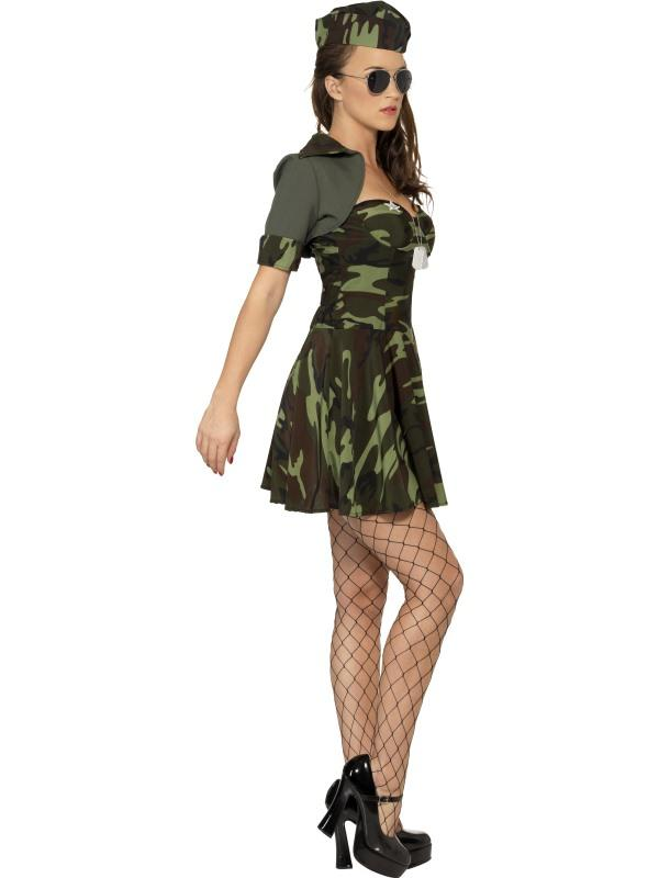 Adult Ladies Sexy Military Babe Costume Thumbnail 2