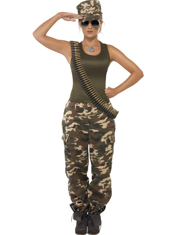 54a66fdb8d3 Adult Ladies Camouflage Combat Girl Costume | Plymouth Fancy Dress ...