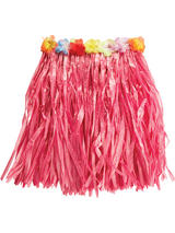 Pink Hawaiian Grass Skirt