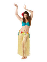Long Natural Coloured Hawaiian Grass Skirt