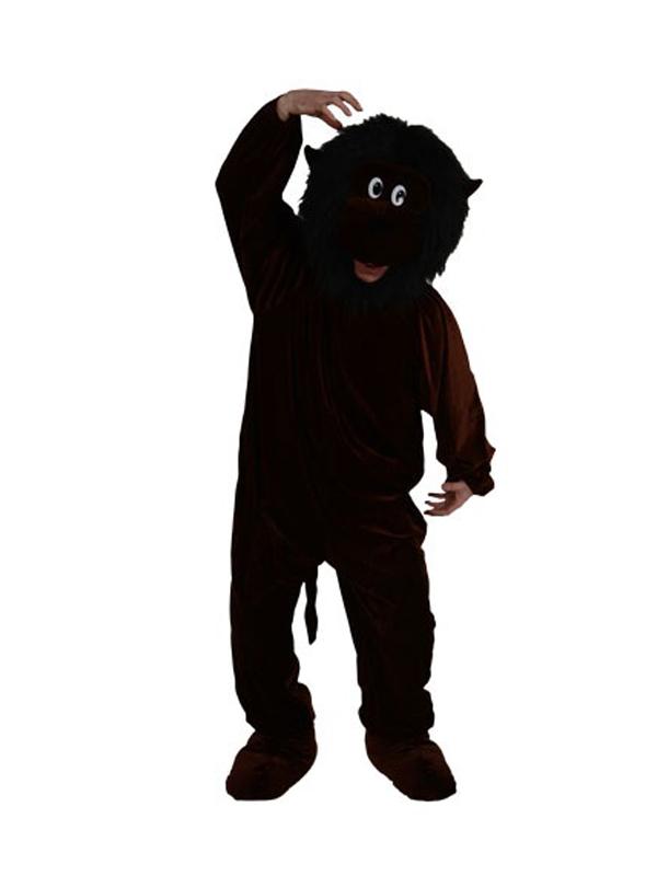 Men's Giant Black Gorilla Jumpsuit Costume