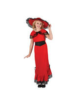 Girl's Scarlet Victorian Dress Costume