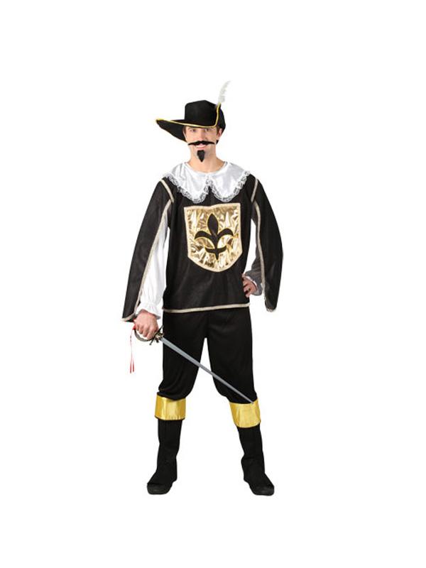 Men's White Black Gold 3 Musketeers Costume