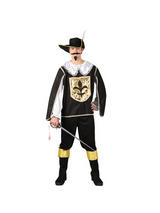 Men's White Black Gold 3 Musketeers Costume