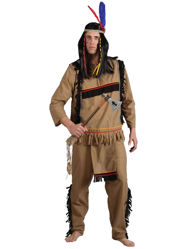 Men's Brave Indian Warrior Costume