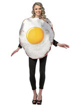 Adult Fried Egg Food Fancy Dress Costume Mens Ladies Gents Women Unisex