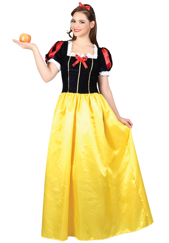 Adult Snow White Princess Fairytale Fancy Dress Costume Book Week