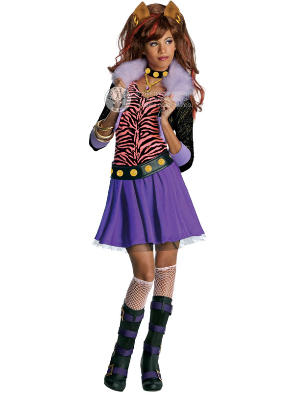 Girl's Monster High Clawdeen Wolf Costume