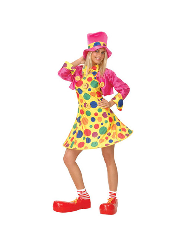 Ladies Hooped skirt Circus Clown Costume