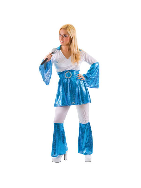 Ladies Blue  White Mamma Mia Costume