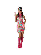 Ladies 1960s Psychedelic Hippie Costume