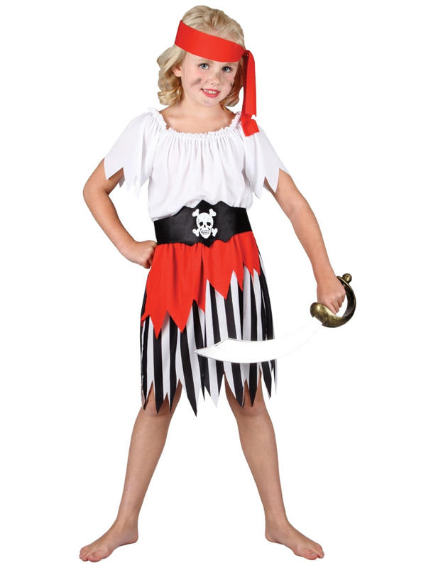 Child High Seas Pirate Girl Costume