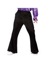 Men's 1970s Black flare Disco trousers