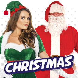 Christmas Fancy Dress Costumes and Santa Outfits for Men, Ladies, Boys and Girls