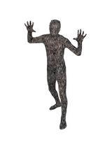 Men's Zebra Skin One Piece Skinz Costume