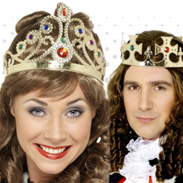 Regal Headwear To Complete Royal Costumes Including Crowns And Tiaras