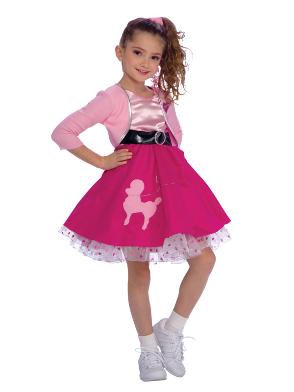 Girl's Pink Fifties Rock Costume