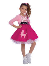 Girl's Pink Fifties Rock Costume