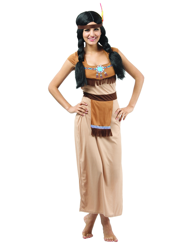 Indian Squaw Costume  sc 1 st  Plymouth Fancy Dress & Indian Squaw Costume | Cowboys u0026 Indians | Plymouth Fancy Dress ...