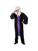 Men's Black and Purple Judges Robe