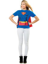 Ladies Supergirl T-shirt and Cape