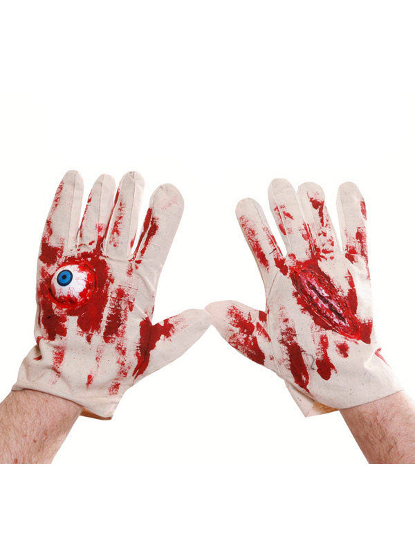 Pair Blood Stained Gloves Scar Eyeball Large Letter
