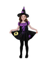 Child Girls Cat Witch Costume