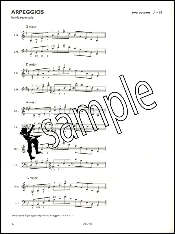 Piano Scales Arpeggios Broken Chords Abrsm Grade 2 Hamcor
