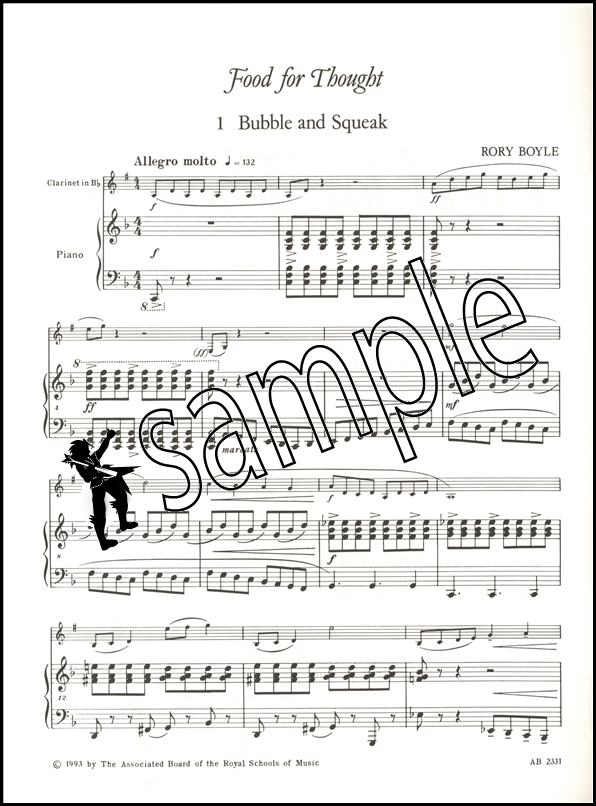 Food for Thought for Clarinet & Piano ABRSM Sheet Music Book | eBay