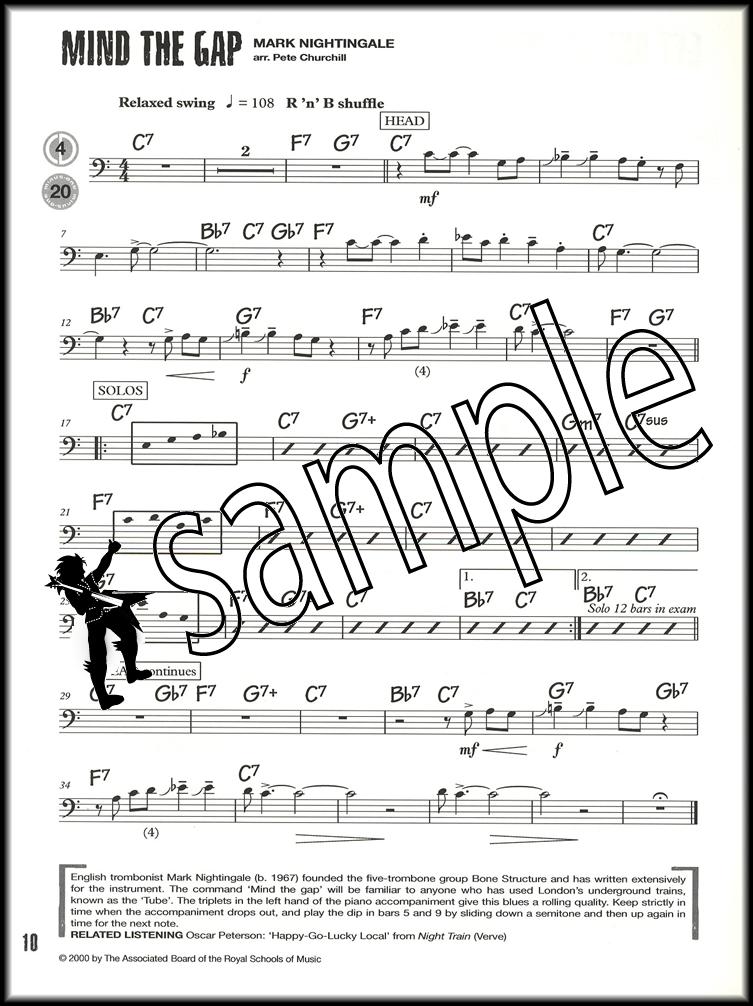 jazz trombone tunes abrsm grade 3 sheet music book with cd bass clef ebay. Black Bedroom Furniture Sets. Home Design Ideas