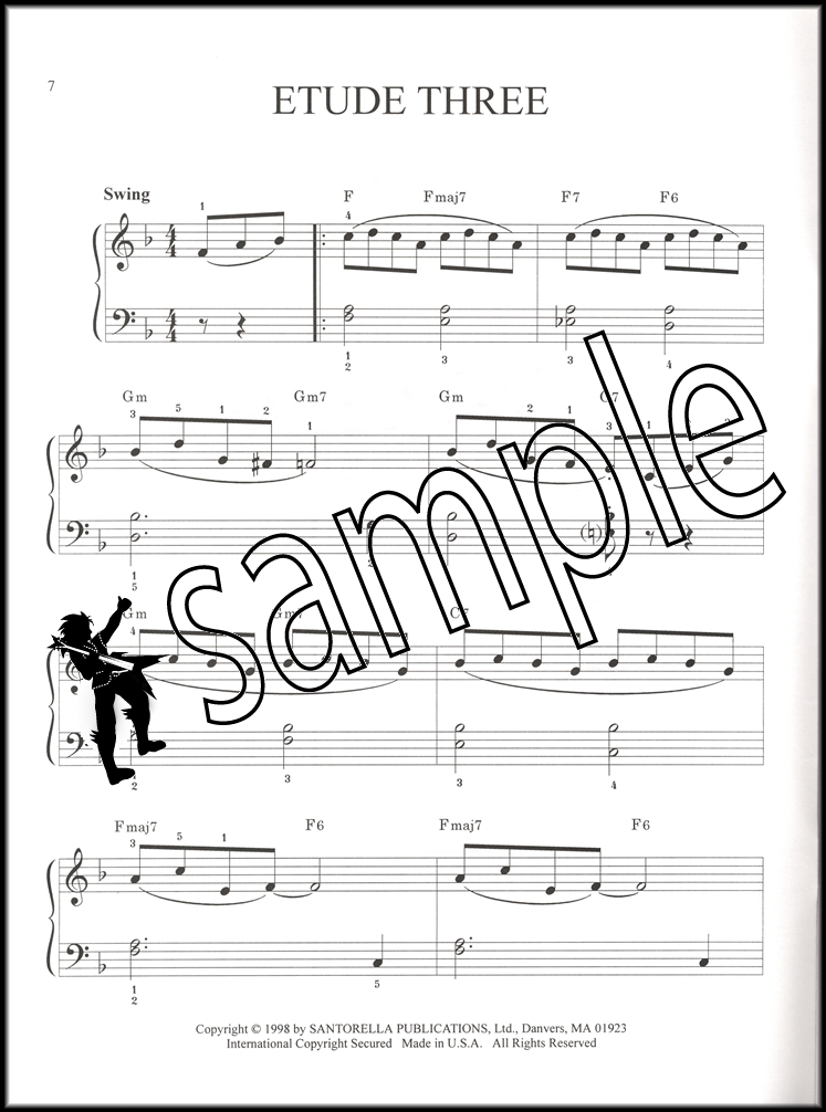 Piano jazz piano sheet music for beginners : Jazz Piano Exercises & Etudes Easy to Intermediate Sheet Music ...