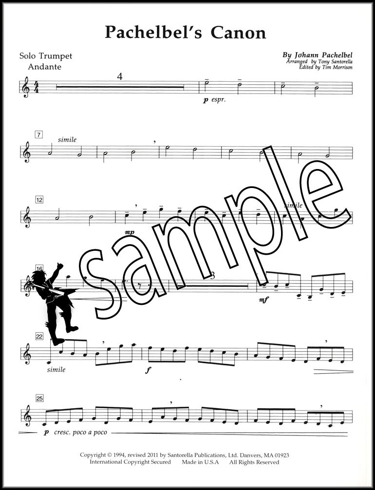All Music Chords free trumpet solo sheet music : Johann Pachelbel's Canon Trumpet & Piano Sheet Music Classical | eBay