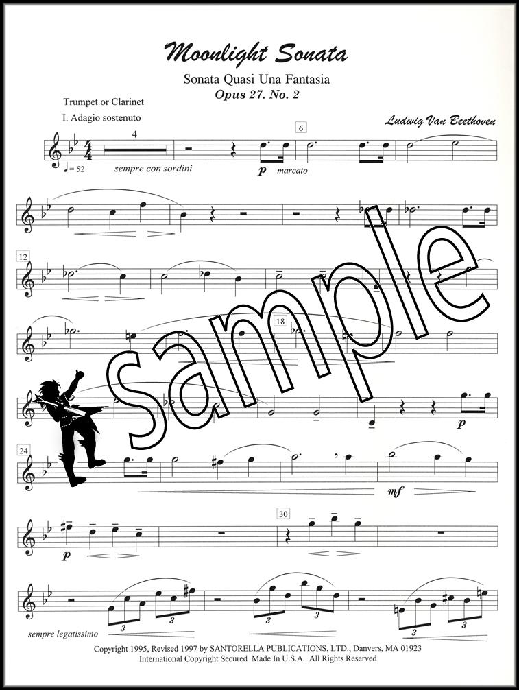 All Music Chords beethoven sheet music : Beethoven's Moonlight Sonata Trumpet | Hamcor