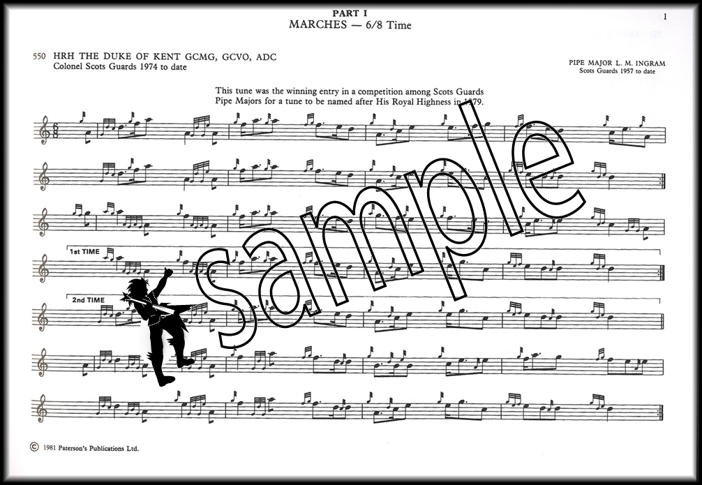 All Music Chords last date sheet music : Scots Guards Standard Settings of Pipe Music Volume 2 Bagpipe ...