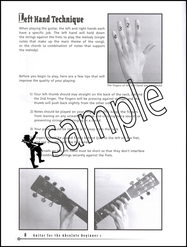 Guitar for the Absolute Beginner 1 Book/DVD | Hamcor