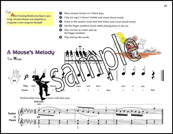 Sentinel Music For Little Mozarts Book 1 Childrens Learn To Play Piano Beginner Method