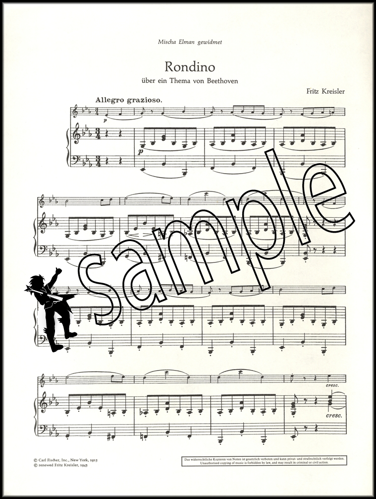All Music Chords beethoven sheet music : Rondino on a Theme from Beethoven for Violin and Piano Sheet Music ...