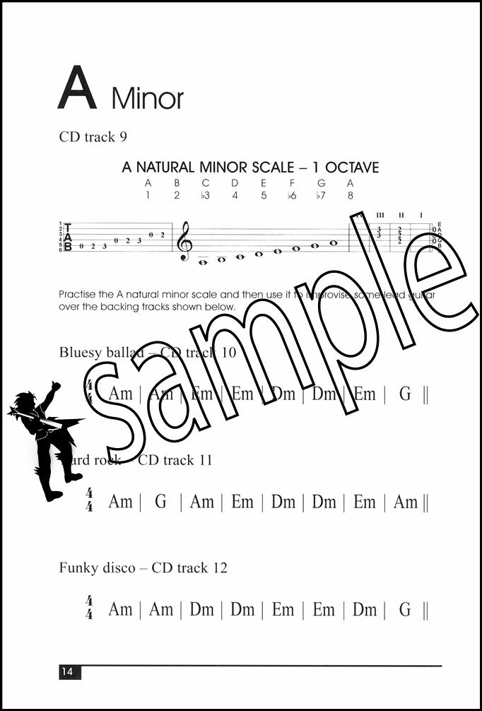 Improvising Lead Guitar Total Beginner TAB & Chord Book with CD ...
