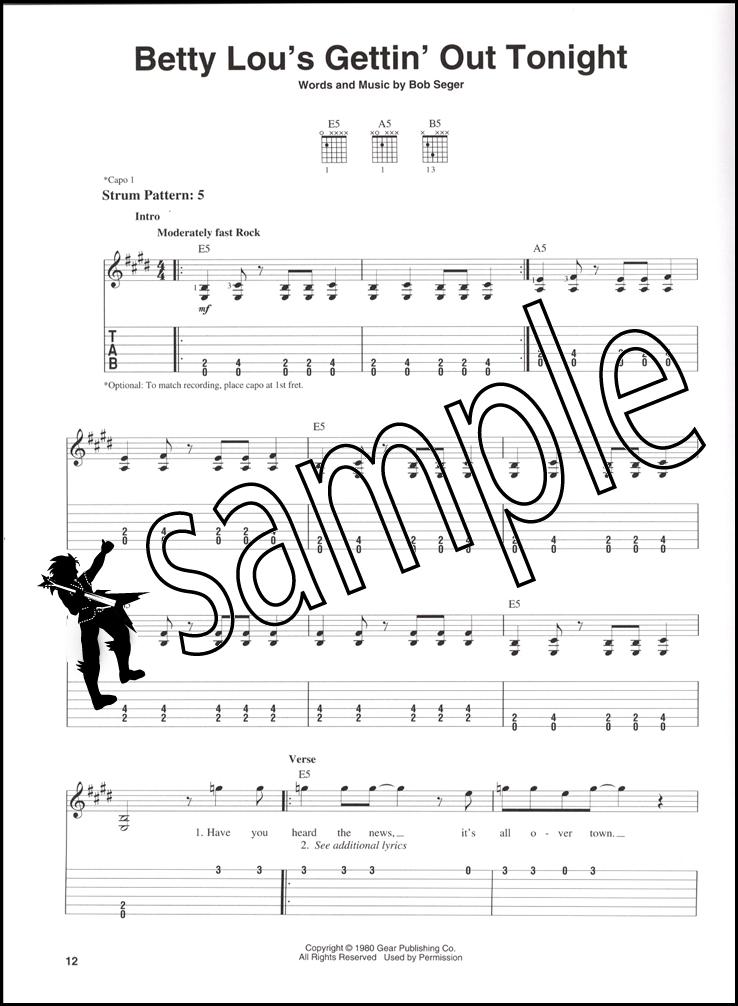The Best Of Bob Seger Easy Guitar Hamcor