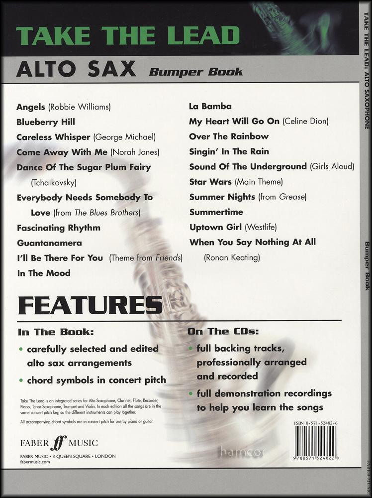 Take The Lead Alto Saxophone Bumper Book2cds Hamcor