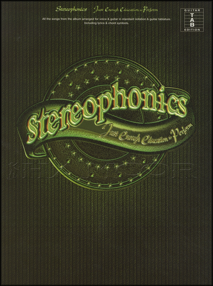 Stereophonics Just Enough Education To Perform Guitar TAB Music Book ...