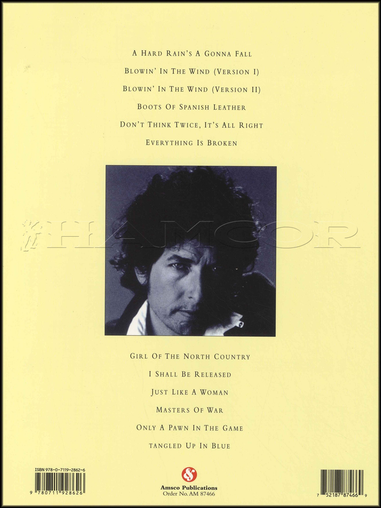 Bob Dylan Greatest Hits Songtab Edition Guitar Hamcor