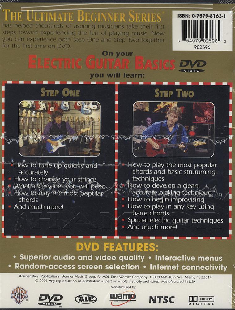 Ultimate Beginner Series Electric Guitar Basics DVD | Hamcor