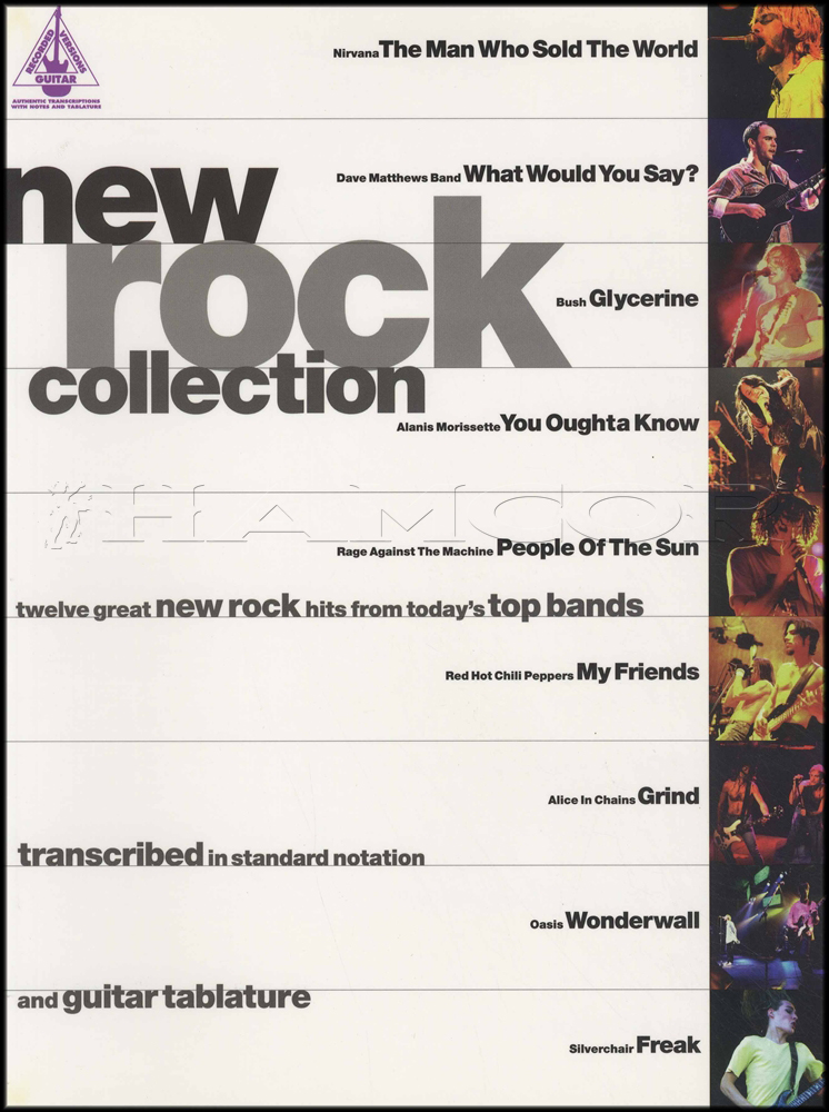 New Rock Collection Guitar TAB Songbook Nirvana Oasis RATM RHCP ...