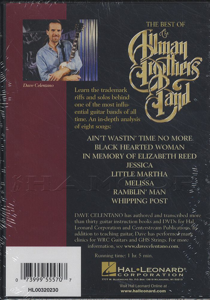 Best Of Allman Brothers Band Dvd Hamcor