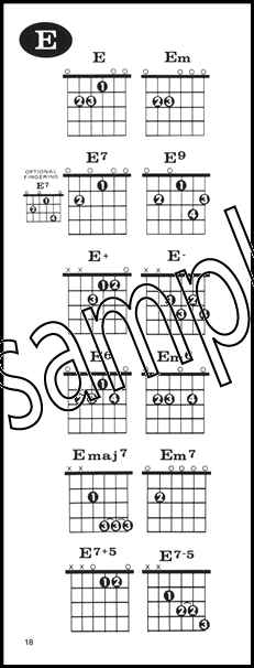 Guitar Chord Dictionary Alfred Handy Guide Hamcor