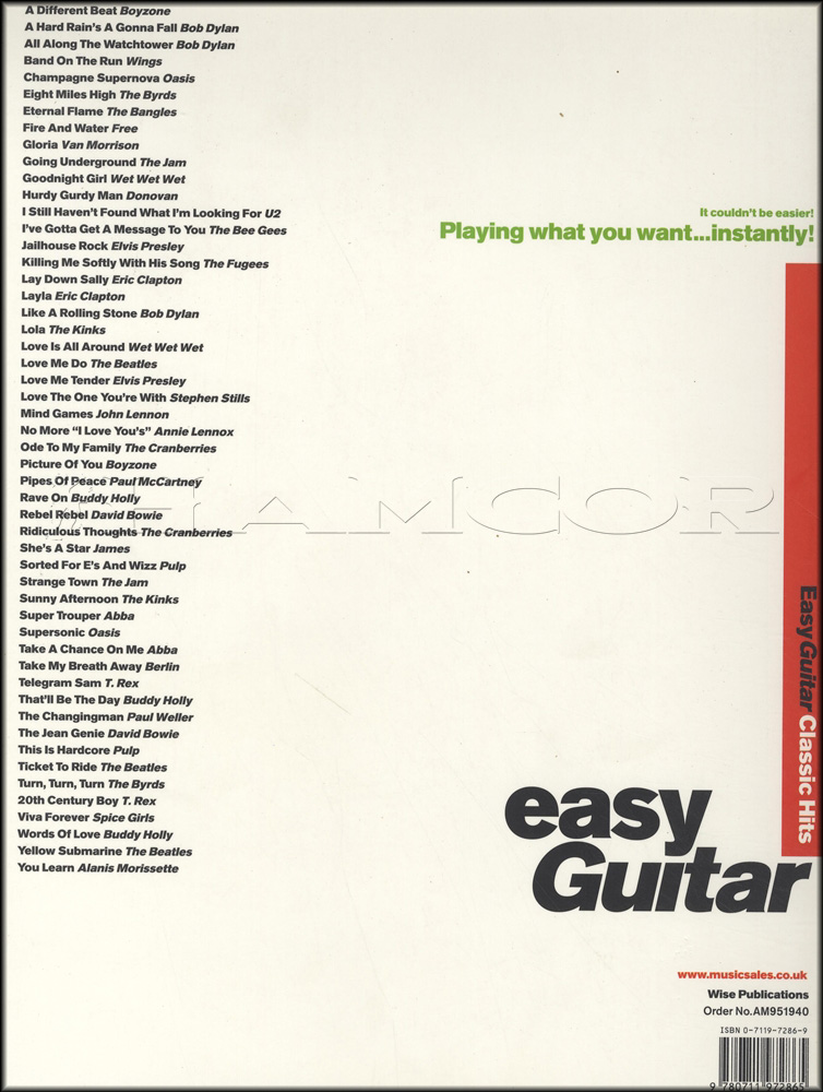 Classic Hits For Easy Guitar | Hamcor